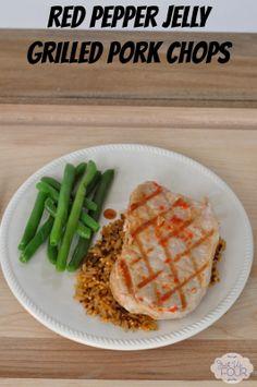 Red Pepper Jelly Grilled Pork Chops Recipe