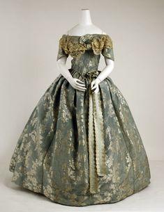 Dress ca. 1855-1859 via The Costume Institute of The Metropolitan Museum of Art
