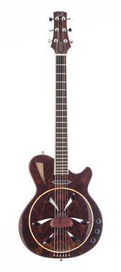 Custom Made The Mermaid Biscuit Bridge Electric Resonator Guitar