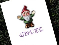 Christmas Gnome Card Set of 10 by HeartsGrowFonder on Etsy, $17.50