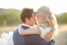 Stunningly romantic sunset #wedding portrait