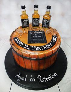 Jack Daniels cake! #jackdanielscake #whiskeycake https://www.craftycakes.com/