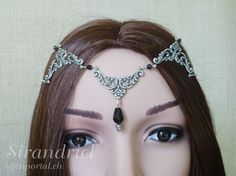 Black Head jewelry for elves  LARP  Arwen  Medieval by elfenportal