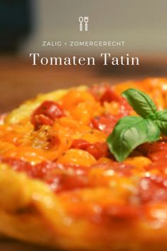 Tarte tatin met tomaten Omelet, Quiches, Chana Masala, Foodies, Lunch, Cakes, Vegetables, Ethnic Recipes, Party