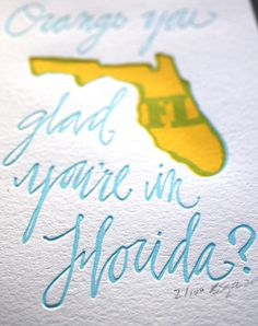 Super cute letterpress art of different states...want to collect all the ones I've lived in!