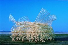 Kinetic Sculptures by Theo Janssen--you should see it walking!