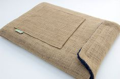 iPad Case- sewing project made with burlap / hessian  or my favourite- denim