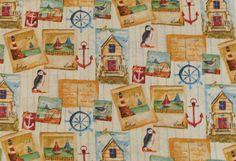 Weiteres - 846 Baumwolle maritim Beige Türkis - ein Designerstück von my-kati bei DaWanda