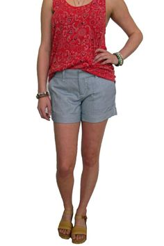 Classic fit shorts that are a great addition in anyone's closet. The blue and white stripe makes a fashion statement when pairing them with a basic graphic tee or a cute top for a night out. Sizing runs true to size.   Hampton Striped Shorts by Dear John. Clothing - Shorts Austin, Texas