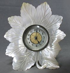 Lovely c1890 Victorian Mother of Pearl Carved Leaf by Neatcurios