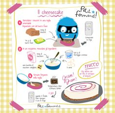 Cheesecake recipe - Discover all our recipe workshops for kitchens with children. Easy and educational, free to downloa - Healthy Toddler Breakfast, Drink Recipe Book, Cheese Packaging, Cake Factory, Best Cheese, Baking With Kids, Desert Recipes, Easy Cooking, Easy Desserts