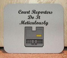 steno machine | Mouspad Machine | ...the life of a court reporter