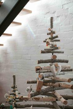 Rustic Christmas Tree. #rustic #Christmas #tree #primitive #firewood