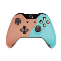 Custom Xbox One Controller  Wireless Glossy  Half-Beige Red-And-Half-Light Green
