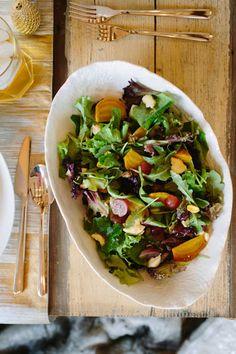 Golden Beet, Grape & Pistachio Salad with Maple Dressing