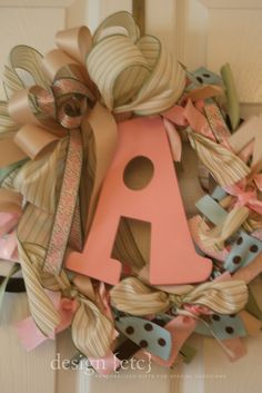 ribbon wreath for my future baby