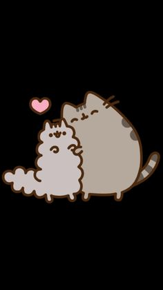 Pusheen and Stormy cuddles Pusheen Love, Pusheen Cat, Pusheen Stickers, Cute Stickers, Crazy Cat Lady, Crazy Cats, Pusheen Stormy, Grey Tabby Cats, Kawaii Doodles