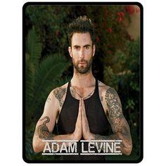 Fleece Blanket- Adam Levine Custom Fleece Blanket Bedroom Bed Pre Gift Ideas 01