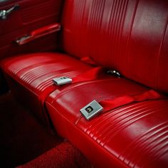 red leather backseat