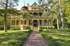 A historic home with sensational Victorian architecture and a classically  Southern wrap-around deck. (701 S. Rogers, Waxahachie, Texas, near Dallas-Fort Worth)