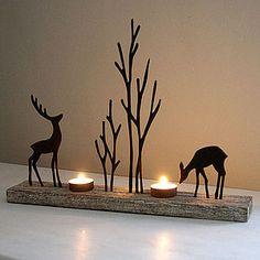 Reindeer Duo Tea Light Holder - home accessories