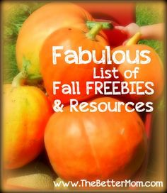 Fall Freebies.  A great list of printables and activities for kids for fall.