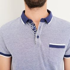 T-shirt & Polo Homme Pas Cher - Vente Polos & T-shirts Hommes Polo Shirt Style, Polo Shirt Design, Polo Design, Polo Rugby Shirt, Mens Polo T Shirts, Mens Tees, Mode Polo, Polo Vest, Polo Fashion