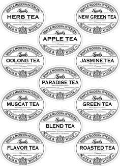 お茶の収納ラベル - シンプルモダンインテリア?