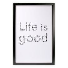 Print in frame - Life is good 60x40 cm