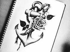 Bildergebnis für anker mit rose tattoo