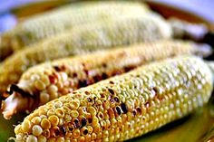 How to grill corn on the cob. Juicy, tender, grilled corn-on-the-cob recipe.  Grill fresh corn cobs in their husks on direct high heat.