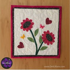 Quilted Wall Hanging sunflowers art quilt wall hanging hand painted fiber art quiltsy