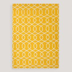 One of my favorite discoveries at WorldMarket.com: Yellow Bahari Flat-Woven Wool Rug