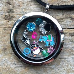 Complete set with Animal Charms and your choice of Silver, Diamante or Sparkle Locket