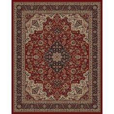 2e8e80d1b3156 Concord Global Dynasty Red Rectangular Indoor Woven Oriental Area Rug  (Common: 4 X Actual: W X L X