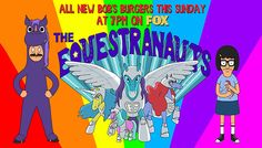 """New episode,""""THE EQUESTRANAUTS,"""" this Sunday at 7pm on FOX! Tina goes to a fan convention andBob cosplays as a purple horse. It's as good as it sounds. And it's the first episode written by Tina herself, Mr. Dan Mintz!"""
