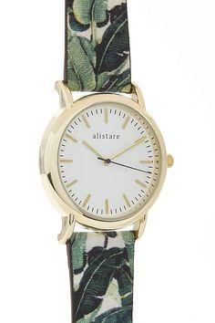 Palm green/gold watch