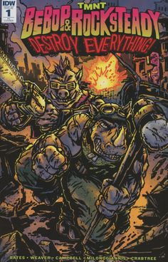 Teenage Mutant Ninja Turtles Bebop & Rocksteady Destroy Everything #1 Cover C Incentive Kevin Eastman Variant Cover