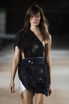 Beautifully designed Anthony Vaccarello piece with Swarovski Elements. Photography by Filippo Fior.