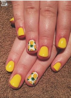 If you are looking for a lovely Nail Art Design for your long nail, you should give an eye to the collection where we have got Nail Designs with flowers, with diamonds, with rhinestones and also palm trees. Nail Art Designs, Beach Nail Designs, Flower Nail Designs, Flower Nail Art, Pineapple Nail Design, Pineapple Nails, Watermelon Nails, Hawaiian Flower Nails, Hawaiian Nail Art