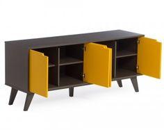 Buffet Vértice - 4 Portas - Amarelo