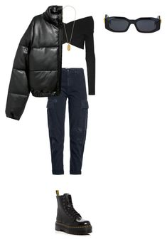 """NY"" by diamara-dostanova on Polyvore featuring мода, RE/DONE, Dr. Martens, Opening Ceremony и Versace"