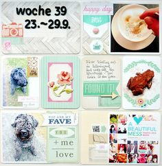 Project Life Week 39 Page 1 (Flea Market Kit)