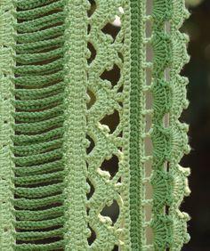 Dryad Crocheted Scarf Pattern/Ebook PDF Sizes by mylittlecitygirl