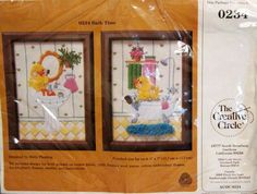 Bath Time Crewel Embroidery Kit Vintage 1980's by ToppyToppyKnits