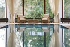 Relaxed Indoor Swimming Pool