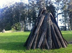 Kule Loklo, replicated Coast Miwok Village at Point Reyes National Seashore: Photo of a redwood kotcha, a home that could house 4-8 people.