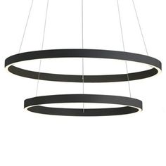 led technology The Cerchio LED Chandelier by Kuzco Lighting expertly combines sleek rounded lines with integrated LED technology for a sophisticated and simple statement piece. Industrial Led Lighting, Modern Lighting, Lighting Design, Minimal Design, Modern Design, Ceiling Fixtures, Ceiling Lights, Modern Fan, Led Chandelier