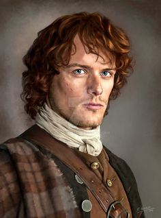 """Jamie Fraser portrait from the tv series """"Outlander"""". Jamie is my favourite character not least because I am 9th gen. Fraser myself.. although not on the Simon Fraser side. INFO Created using Corel..."""