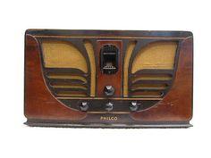 "Vintage 1937 Old Philco Antique "" Butterfly "" Art Deco Mid Century Tube Radio | eBay"